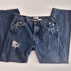 Vintage Levi's 501 distressed  button fly jeans